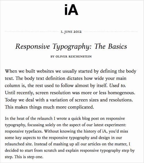 Типографика основа веб-дизайна
